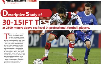 30-15IFT TEST at 2800 meters above sea level in professional football players